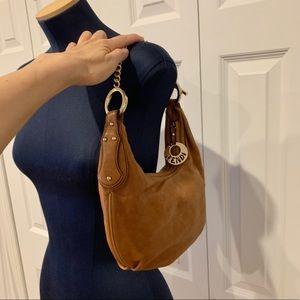 Fendi leather shoulder chain bag